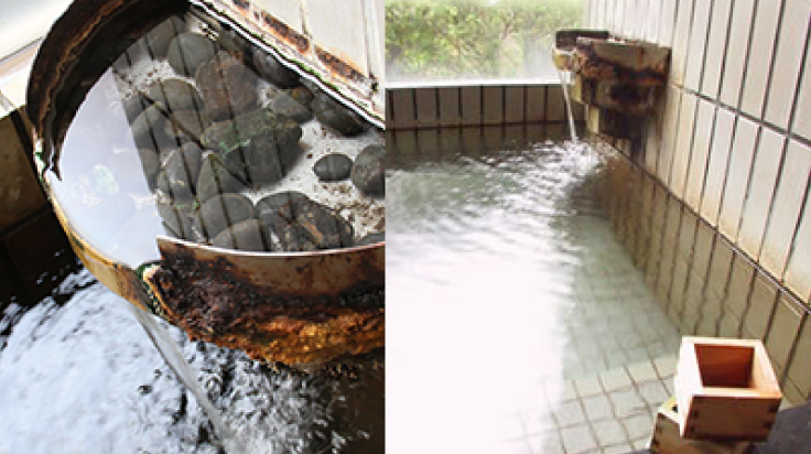Indoor Bath With Hot Spring Water
